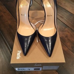 Christian Louboutin Navy Blue Iriza Pumps